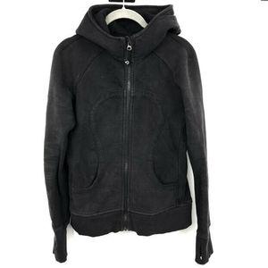 Lululemon Scuba Hoodie L Sweatshirt Full Zip Black